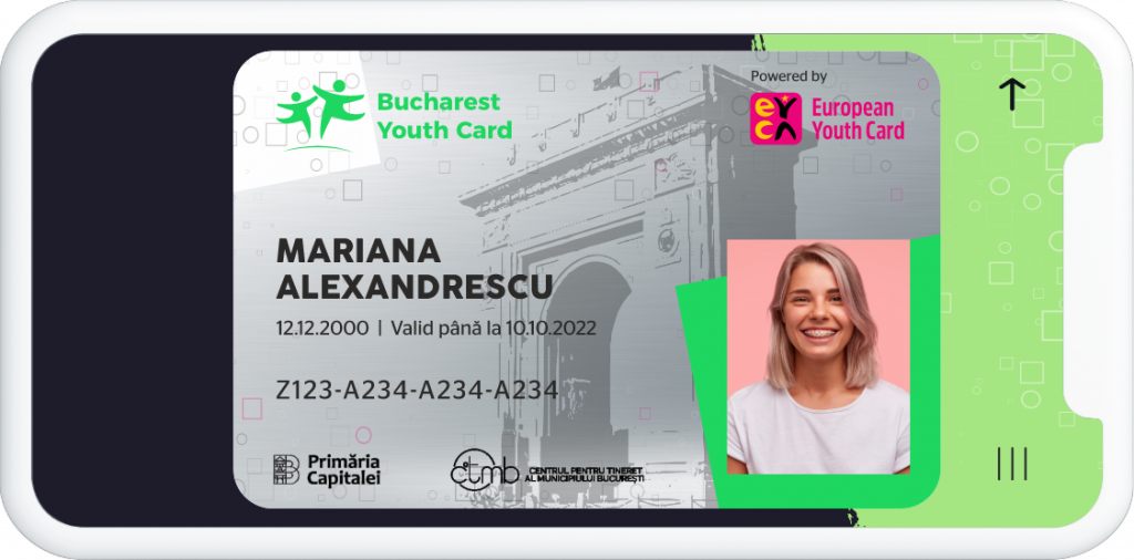 card virtual Bucharest Youth Card